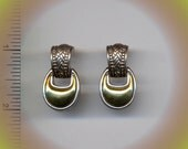 Silver & Gold Tone Fashion Pierced Earrings