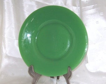 Rich Green Jadeite Depression Glass Plate
