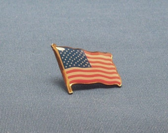 American Flag Tie Tack Coat or Collar Pin