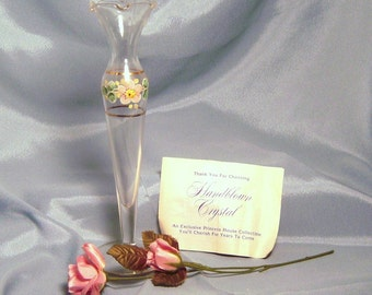 Charming Princess House Hand Blown Crystal Glass Bud Vase
