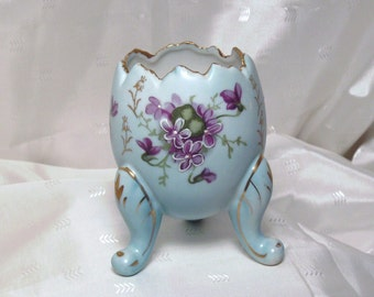 Hand Painted Japanese Porcelain China Broken Egg Vase Jardinere