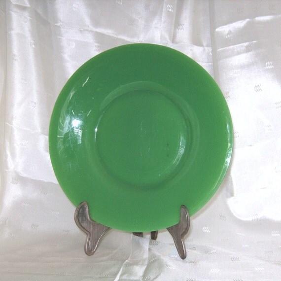 Rich Green Jadeite Depression Glass Plate
