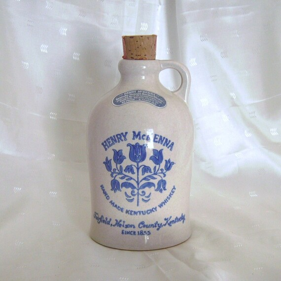 Henry McKenna Kentucky Whiskey Jug Crock Bottle