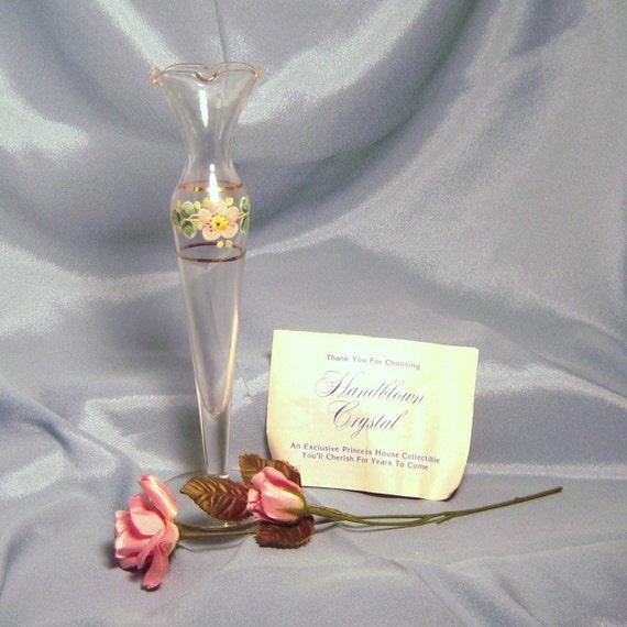 Charming Princess House Hand Blown Crystal Glass Bud Vase