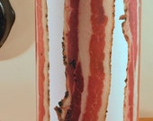 BACON ART: Table Lamp, Gift, Kitsch, Home Decor, Light Fixture