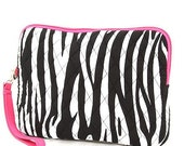 Quilted iPad Case - Popular Zebra Pattern