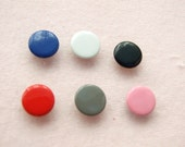 100 sets, Mixed Colors (6 colors) Capped Prong Snap Button Set 2, Size 18L (11.3 mm)