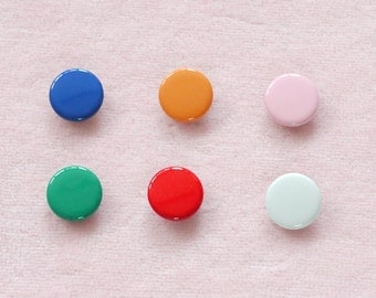 50 sets, Mixed Colors (6 colors) Capped Prong Snap Button Set 5, Size 14L (8.5 mm)