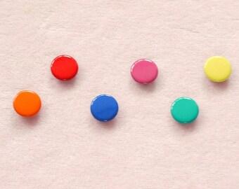 50 sets, Mixed Colors (6 colors) Capped Prong Snap Button Set 7, Size 14L (8.5 mm)