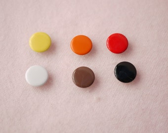 50 sets, Earth Tone (6 colors) Capped Prong Snap Button Set 1, Size 16L (10 mm)