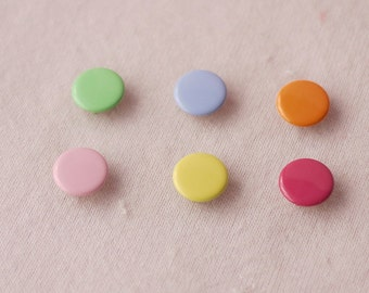 50 sets, Pastel Shade Capped Prong Snap Button Set 4, Size 16L (10 mm)