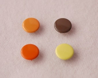50 sets, Autumn Shade (4 Colors) Capped Prong Snap Button, Size 18L (11.3 mm)