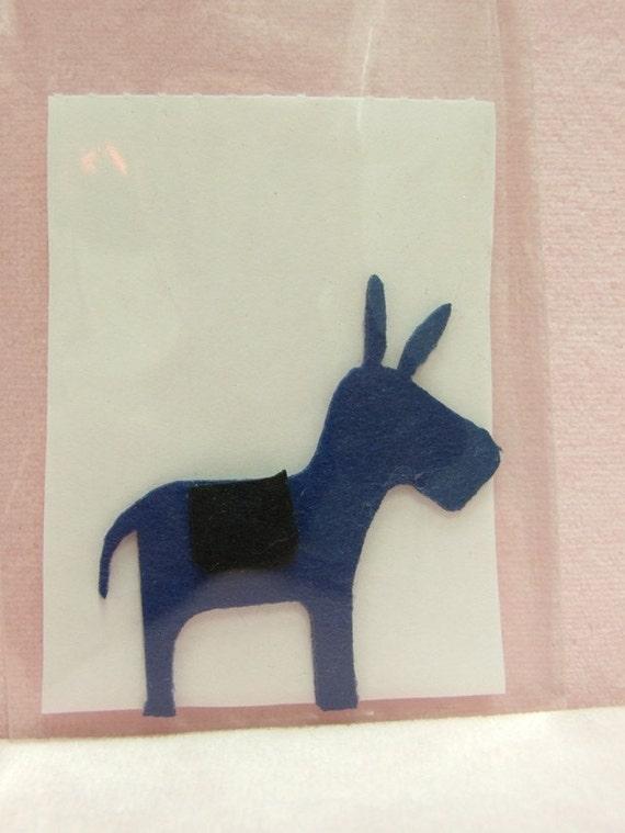 Cute Donkey iron-on patch