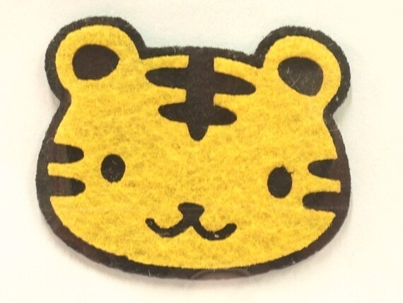Smiling Tiger Iron-On Patch