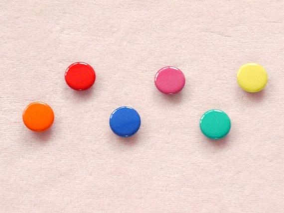 50 sets, Mixed Colors (6 colors) Capped Prong Snap Button Set 7, Size 18L (11.3 mm)