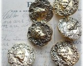 Lot of 12 Art Deco Ladies Buttons  Cool