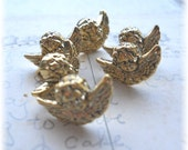 Mini Golden Angel Buttons Set of 12