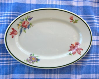 Romantic Vintage Floral Oval Soap Dish Trinket Dish