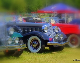 Vintage Car Show, Photo Insert Note Card