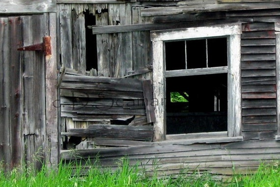 Old Barn Window Note Card