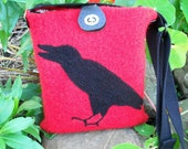Felted Raven Purse
