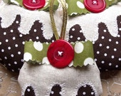 SALE THREE Christmas Pudding Decorations