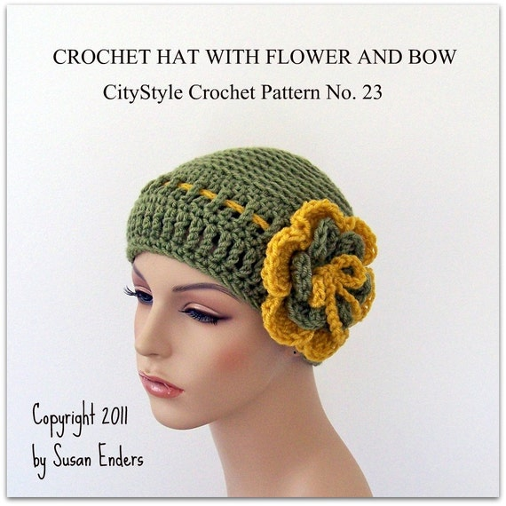 Crochet Pattern Hat, Crochet Hat Pattern, Crochet Flower Pattern, Easy Crochet Hat, Women Hat Pattern, Crochet Teen Hat,DIGITAL DOWNLOAD