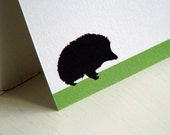 Hedgehog Personalized Stationery - Note Cards - Blank Notes - Flat Cards - Notecard - Woodland Forest . Set of 10