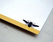 Bee Personalized Stationery - Bumble Bee Thank You Notes - Honey Bee Note Cards - Yellow and White Cards . Notecards . Set of 10