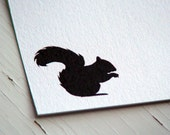 Squirrel Personalized Stationery - Thank You Note Cards - Flat Cards - Blank Notes - Forest - Set of 10