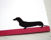 Dachshund Personalized Stationery - Dog Stationary - Thank You Note Cards - Flat Notes - Set of 10