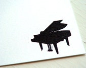 Piano Personalized Stationery - Note Cards - Thank You Notes - Flat Cards . Music . Musical Instrument . Pianist . Set of 10