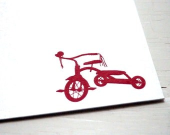 Tricycle Personalized Stationery - Child Note Cards - Thank You Cards - Flat Notes - Set of 10
