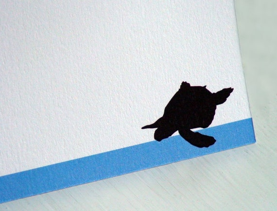 Personalized Stationery Thank You Notes Flat Notecards Note Cards Sea Turtle Set of 10