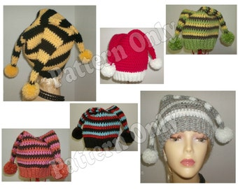 Crochet Pattern - 3 Point Jester Hat - Toddler & Adult