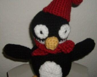 Hand Crochet Amigurumi Penguin stuffed animal