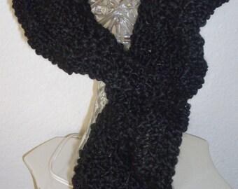 Hand Crochet Scarf black