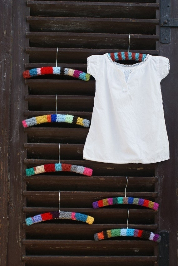 wood and wool baby hanger
