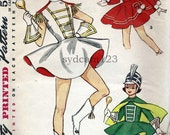 Vintage 1963 Girls Majorette or Ice Skating Costumes Outfits and Hats...Simplicity 4866 Size 8