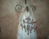 Shabby chic glittered Chandelier ornament,Paris decor,French decor,wedding decor,Paris bedroom decor,French bedroom decor,Paris wall decor