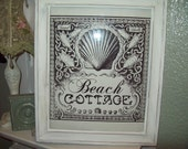 Shabby Chic...Cottage...Beach decor...Beach cottage picture frame