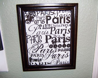 Shabby Paris words picture frame,Paris decor,French decor,Paris bedroom decor,French bedroom,Shabby chic decor,French wall decor