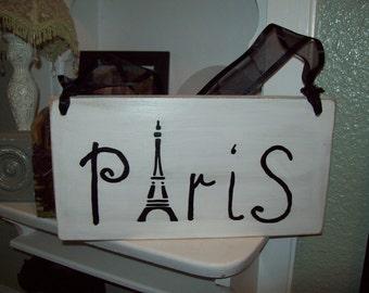 SHABBY French white Paris sign,PARIS decor,FRENCH decor,shabby chic,Paris bedroom,French bedroom,wall decor,wall hanging,Eiffel tower