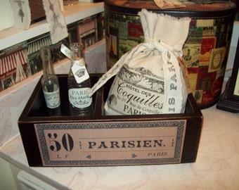 French black organizer box 50 Parisien,French Storage box,SHABBY chic,PARIS decor,FRENCH decor,Paris bedroom decor,Paris bathroom,Wedding