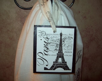 Shabby Eiffel Tower ornament hanging,Paris theme,Paris decor,Paris Christmas decor,Paris party decor,Paris bedroom decor