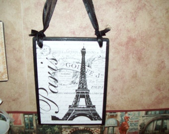 Shabby French plaque Eiffel Tower French words,SHABBY chic,PARIS decor,FRENCH decor,wall decor,wall hanging,Paris bedroom decor