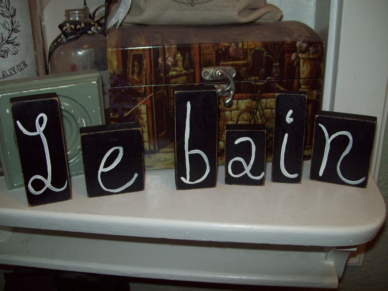 Le Bain Letter Blocks French Bathroom Decorparis Decorparis