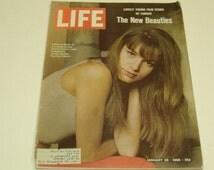 Vintage Life Magazine January 28 1966 - art, vintage ads, scrapbooking, retro 60s collectible