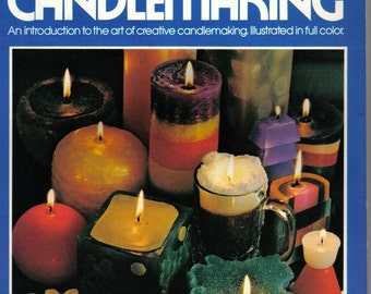Step by Step Candlemaking, Vintage 1972, How-To, Full Color Book, Candle Projects, Wax Instruction, Scented Candles,Craft Book,Candle Making