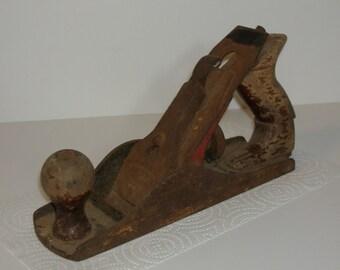 Vintage Wood Planer, Craftsman, Carpenter Tool, Vintage Display, Vintage Woodworking, Wood Tool, Shabby Chic, Heavy Planer, Tool Shed